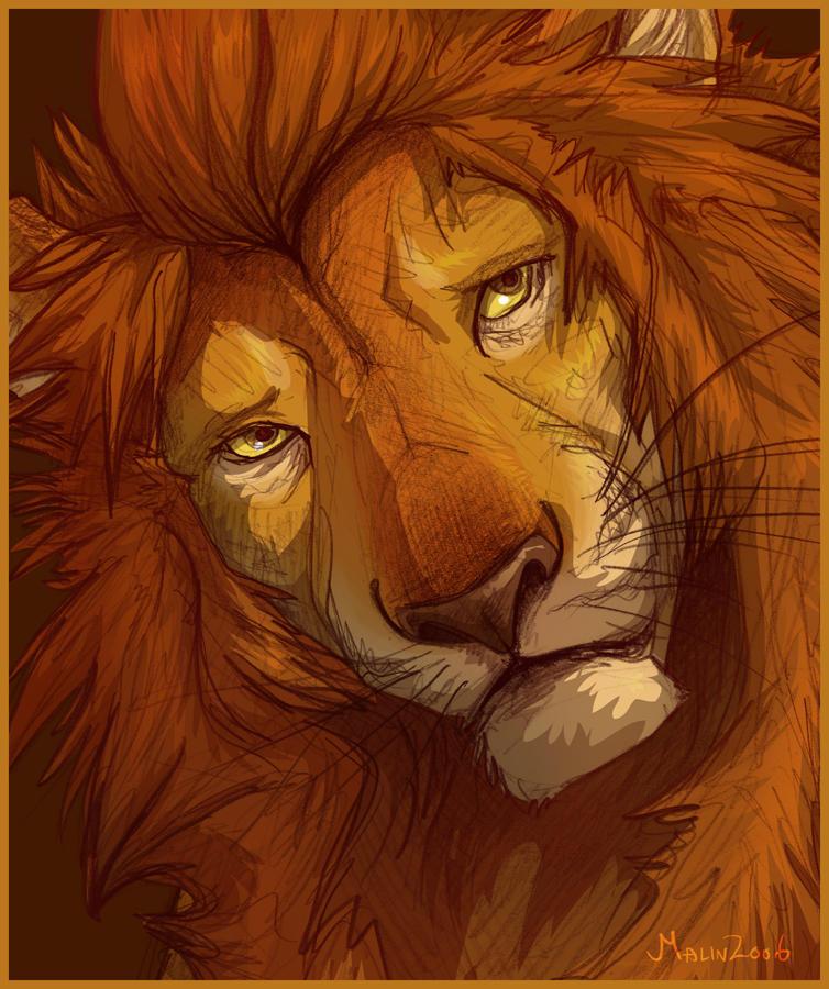 Sad Lion by tigon