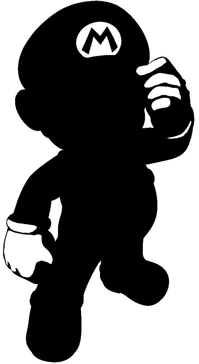 Mario Silhouette by Sora3087 on DeviantArt