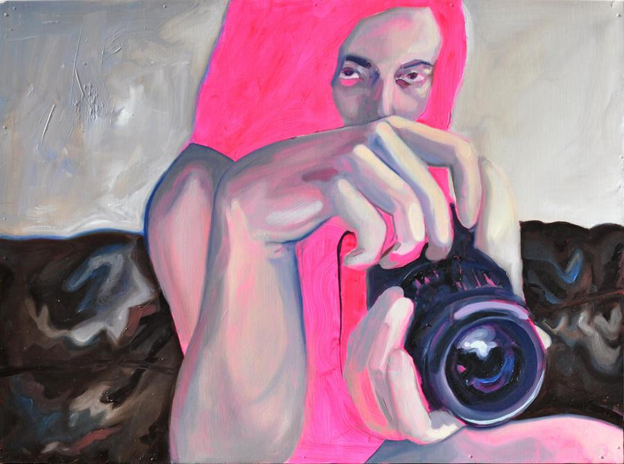 Webcam et cuir fluo by karolanegb