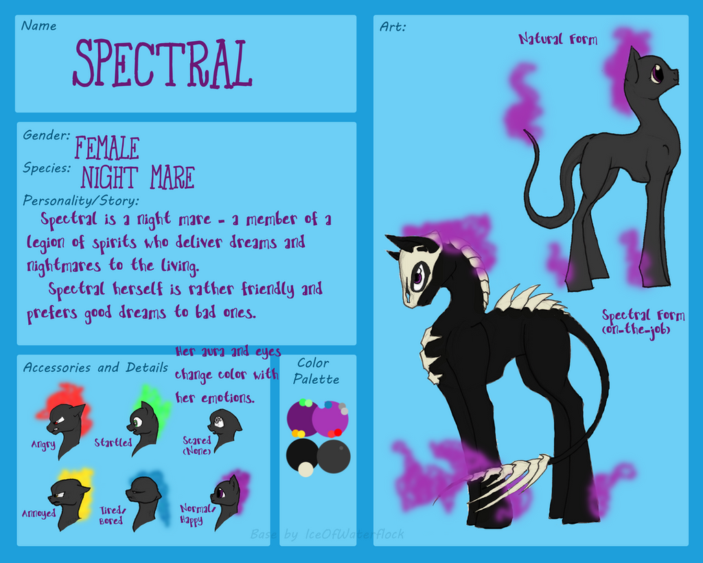 Spectral Ref Sheet by IceOfWaterflock