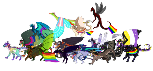 Happy Pride Month from LGBTWings! by IceOfWaterflock