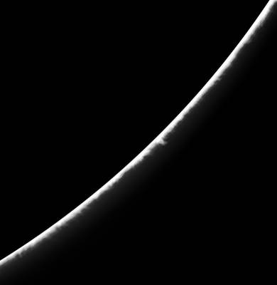 Part of the sun's edge on August 5