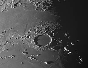 Plato crater on Aug 23 morning