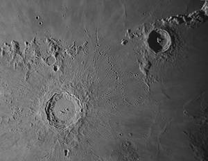 Copernicus crater  and environs on Aug 23 morning