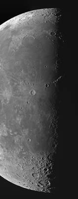 Lunar terminator on Aug 23 morning