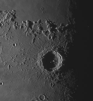 Copernicus crater on Aug 24 morning