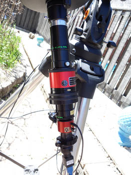 Modified 7 inch scope for solar work