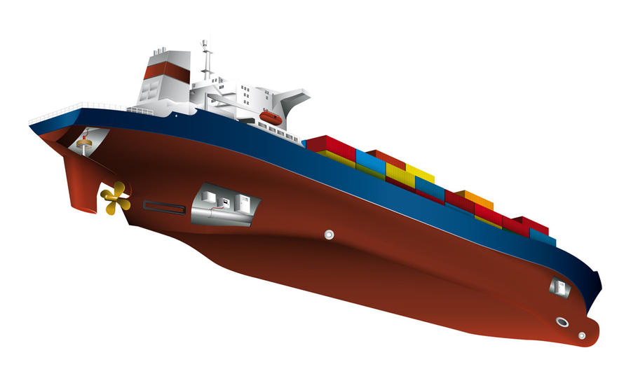Container Ship Diagram by abovecreative