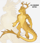 [CLOSED] Gold Dragonborn Adoptable