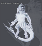 [CLOSED] Silver Dragonborn Adoptable