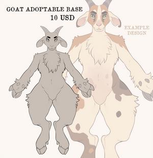 Druidbones' Adoptable Goat Base