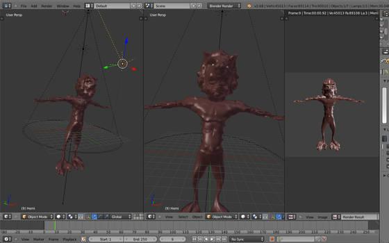 Wolf Demon Guy 3d stuff