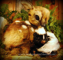 Lifesize Baby Skunk and Fawn - Poseable Creatures by RikerCreatures