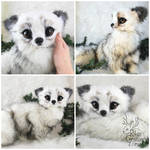 Fantasy Arctic Fox - Poseable Art-Doll Creature -