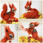 Luthias the Fire Fairy Squirrel ~Poseable Creature