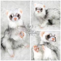 Fel the Lucky Ferret - Poseable Creature Art Doll