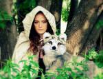 Elven Fantasy Wolf - Heidi Riker Artist Creatures