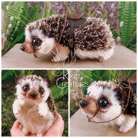 Fantasy Fairy Mount Hedgehog -  Poseable Creature by RikerCreatures