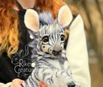Baby Zebracorn - Fantasy Poseable Creature