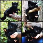 Baby Black Jaguar Plushie Doll