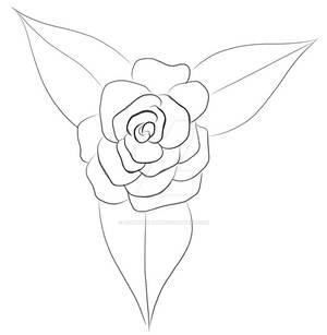 Pencil Outline Rose
