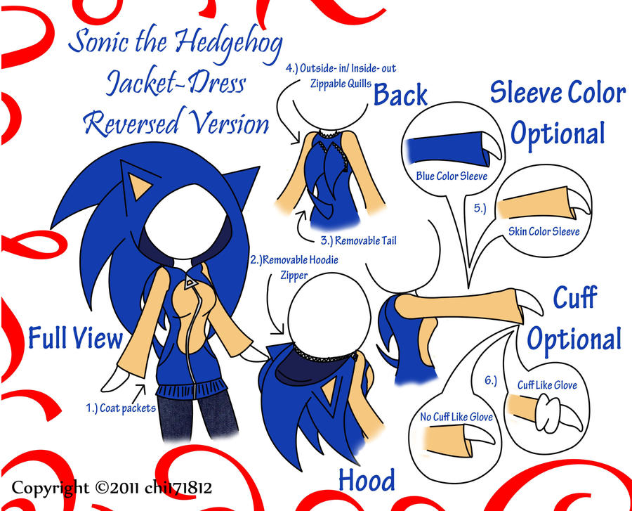 Sonic the Hedgehog Jacket by chi171812