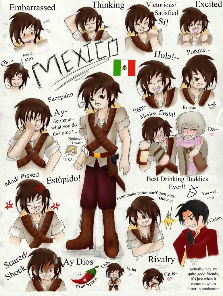 Hetalia: Mexico ~COLORED~ by chi171812