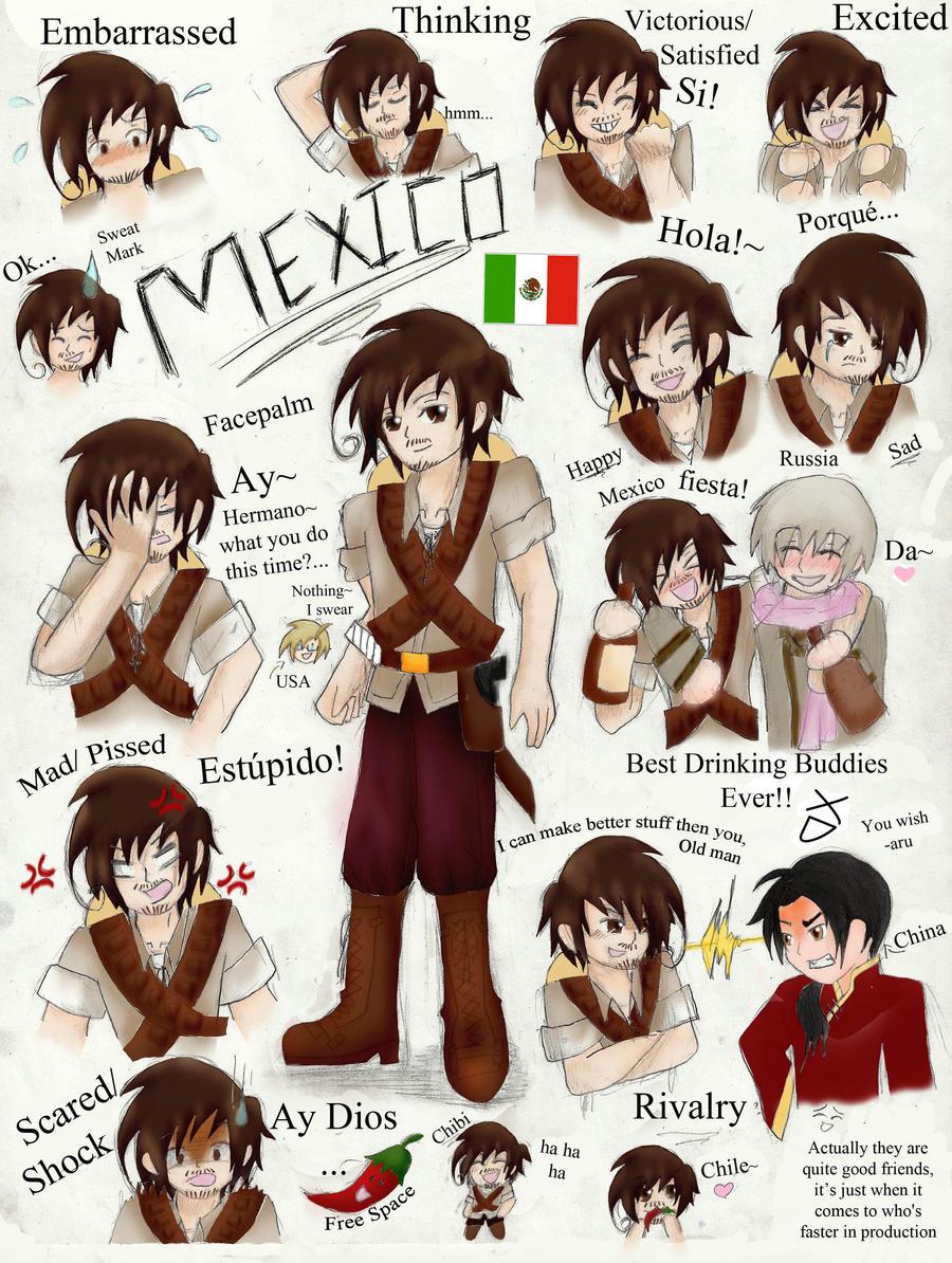 Hetalia: Mexico ~COLORED~ by chi171812