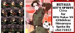[REQUESTED]Hetalia RPG Maker - 1p!China sprites