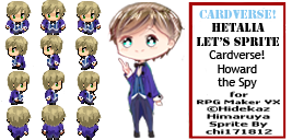 Cardverse!Hetalia RPG Maker - Howard the Spy by chi171812