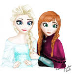 Elsa and Anna with Colours