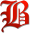 Old Historic Font Letter B (Red) by xVanyx