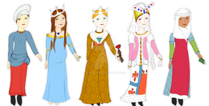 Middle Ages Dress Up Game (12-15th Century)