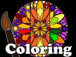Rose Window Coloring Game