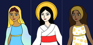 Holy Mary Depicted Across Different Cultures