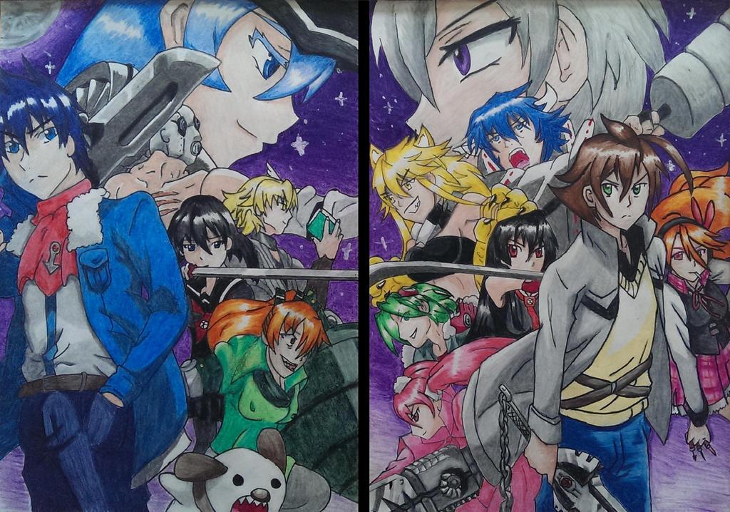 Akame Ga Kill   Night Raid vs The Jaegers by joereynolds