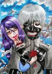 Tokyo Ghoul - Kaneki and Rize