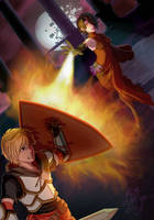 Jaune vs. Cinder by ObsidianArrows