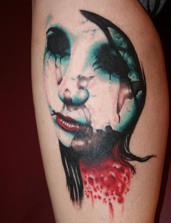 wax faced zombie tattoo by eddylee13 on deviantart