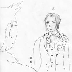 Miles Edgeworth for Kohta by WildcatJF