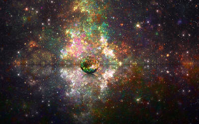 [ free space wallpaper ] On the border of reality by Spin-T