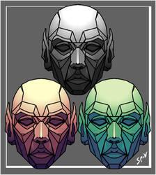 3 hues of Talos [Captain Marvel] by Spin-T