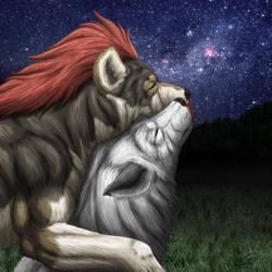 Wolf's Hug by SheltieWolf