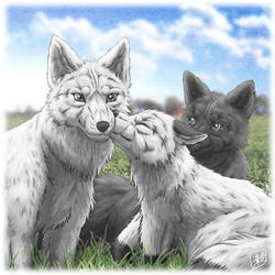 Fox family : Dear My Mother .. by SheltieWolf