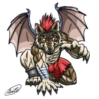 Werewolf fighter by SheltieWolf