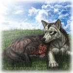 Pup and Father Wolf
