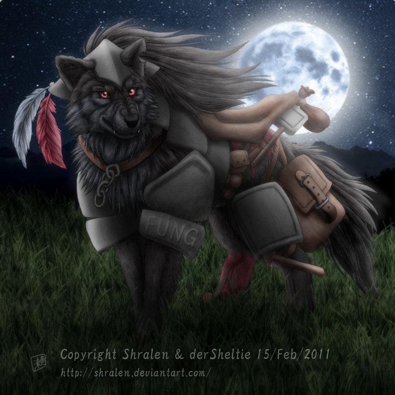 Wolf Moon by SheltieWolf