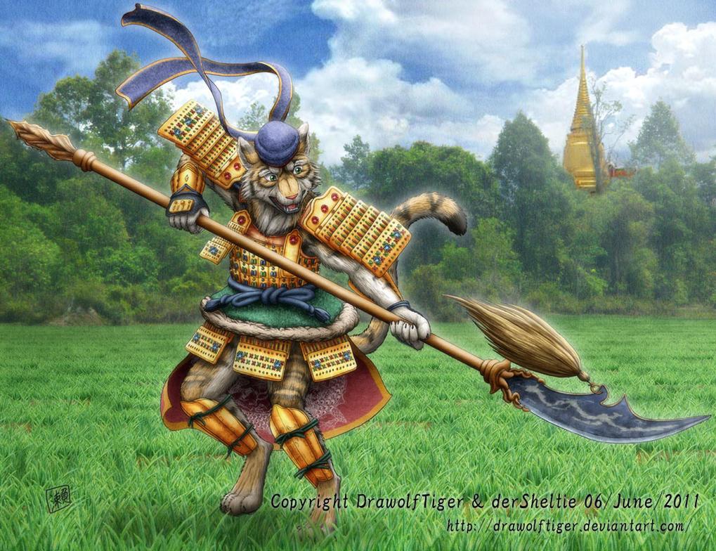 Fantasy tiger warrior
