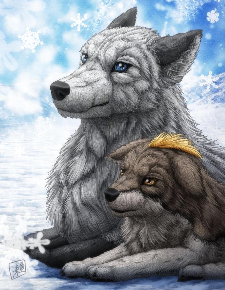 Snowy Wolf by SheltieWolf