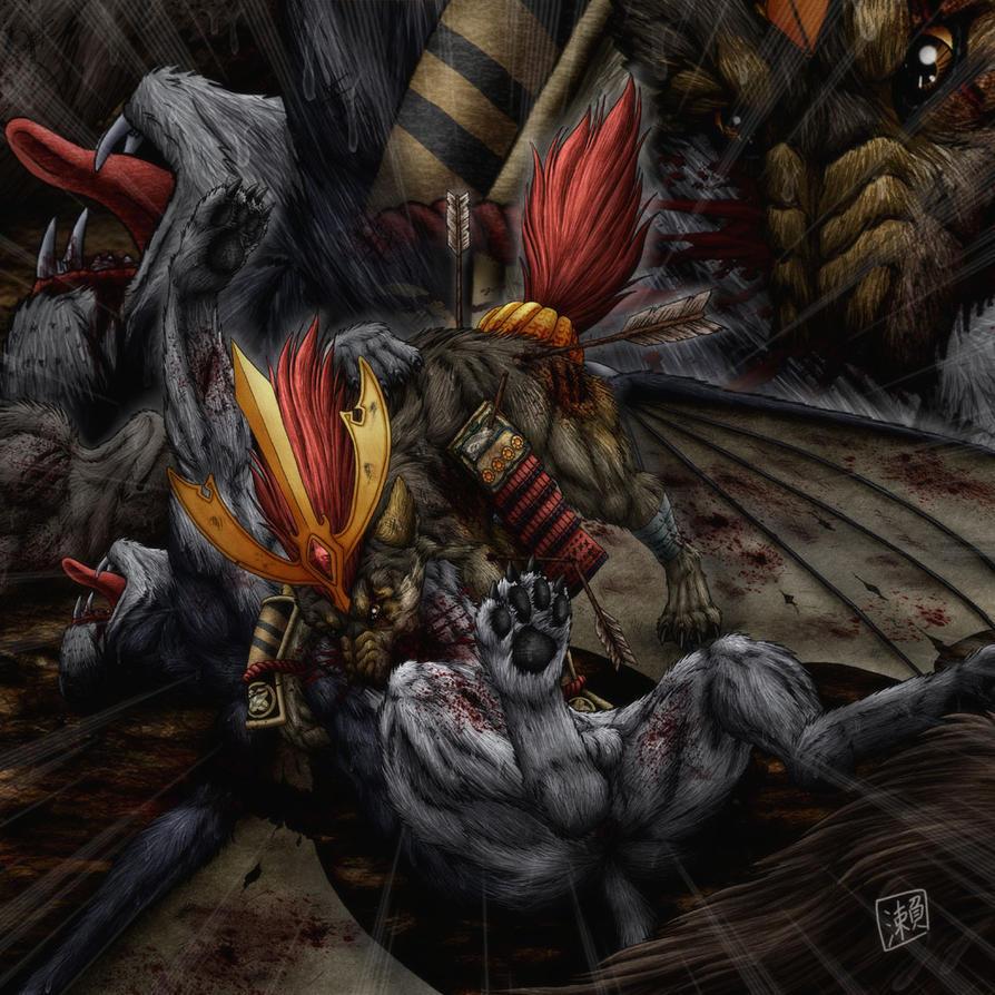 Annale de Ashiro Ryuka Samurai_fight_by_dersheltie-d4sck5x